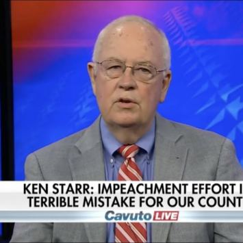 Ken Starr Claims This Impeachment Is Not Only Unconstitutional, It's Dangerous
