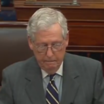 Mediocre Mitch Cowers At Chance To Impeach Biden